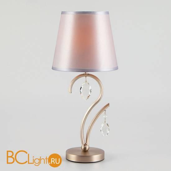 Настольная лампа Eurosvet Aurelia 01059/1 сатин-никель/прозрачный хрусталь Strotskis