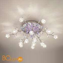 Потолочная люстра Eurosvet Bloomy 80115/15 хром/синий+красный+фиолетовый