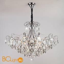 Подвесной светильник Eurosvet Crystal 10080/12 хром/прозрачный хрусталь Strotskis