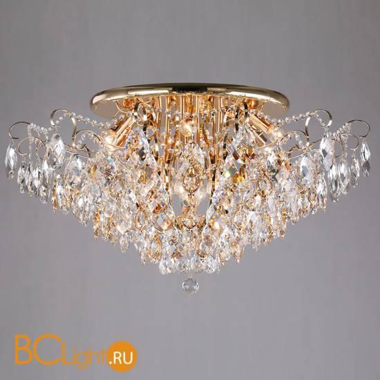 Потолочный светильник Eurosvet Crystal 10081/12 золото/прозрачный хрусталь Strotskis