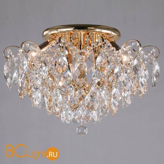 Потолочный светильник Eurosvet Crystal 10081/6 золото/прозрачный хрусталь Strotskis
