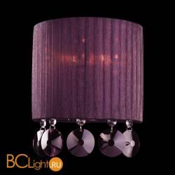 Настенный светильник Eurosvet Diori 3153/2 хром/гранатовый хрусталь Strotskis