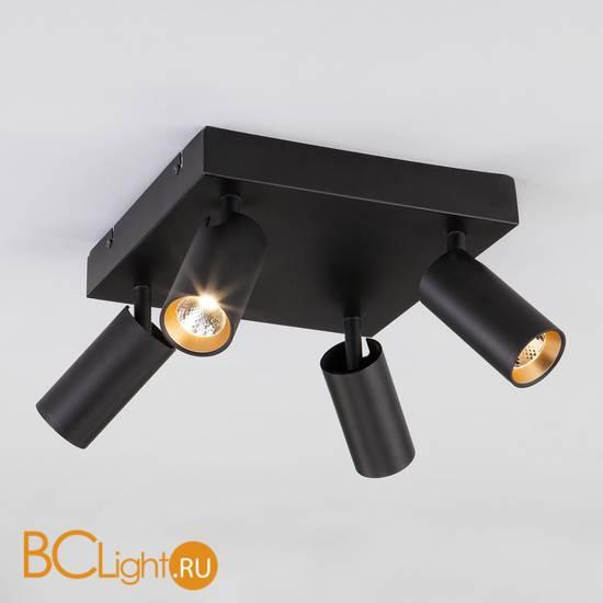 Потолочный светильник Eurosvet Fleur 20066/4 черный/золото 20W
