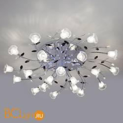 Потолочная люстра Eurosvet Florescence 80114/21 хром/белый