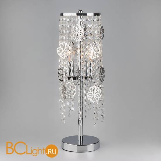 Настольная лампа Eurosvet Flower 01035/2 хром/прозрачный хрусталь Strotskis
