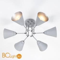Потолочная люстра Eurosvet Nigella 70052/6 серый/серебро