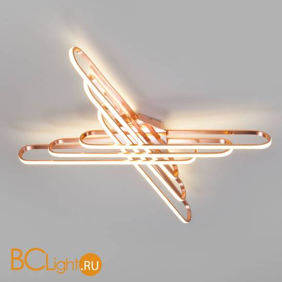 Потолочный светильник Eurosvet Staple 90133/6 розовое золото 156W