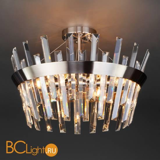 Подвесной светильник Eurosvet Steccato 10111/5 сатин-никель/прозрачный хрусталь Strotskis