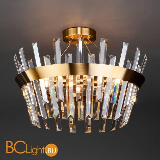 Подвесной светильник Eurosvet Steccato 10111/5 золотая бронза / прозрачный хрусталь Strotskis
