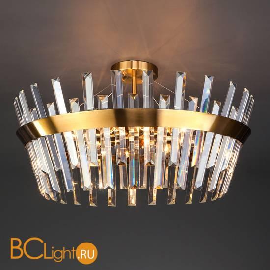 Подвесной светильник Eurosvet Steccato 10111/8 золотая бронза/прозрачный хрусталь Strotskis