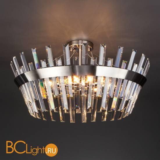 Подвесной светильник Eurosvet Steccato 10111/8 сатин-никель / прозрачный хрусталь Strotskis