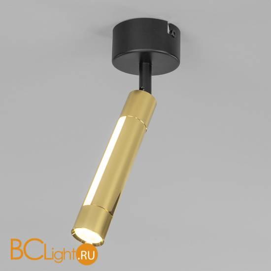 Потолочный светильник Eurosvet Strong 20084/1 LED черный/золото
