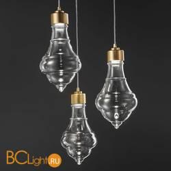 Подвесной светильник Evi Style Trottola Oro Trasparente