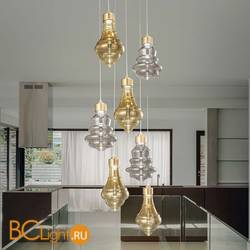 Подвесной светильник Evi Style Trottola Oro Ambra+Trasparente