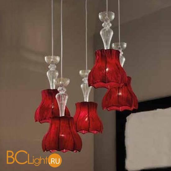 Подвесной светильник Evi Style Vintage glass SO5 Pagoda ES0226SO04SR