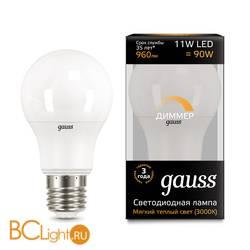 Лампа Gauss LED A60-dim E27 11W 960lm 3000К 102502111-D
