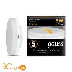 Лампа Gauss LED GX53 8W 660lm 3000K 108408108-D