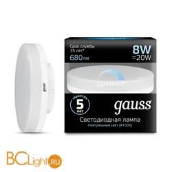 Лампа Gauss LED GX53 8W 680lm 4100K 108408208-D