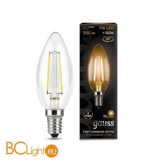 Лампа Gauss LED Filament Candle E14 7W 2700К 103801107