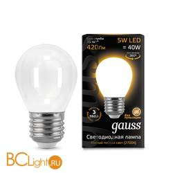 Лампа Gauss LED Filament Globe OPAL E27 5W 2700K 105202105