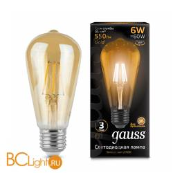 Лампа Gauss LED Retro ST64 Filament 102802006