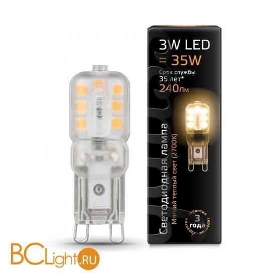 Лампа Gauss LED G9 AC220-240V 3W 2700K 240Lm 107409103