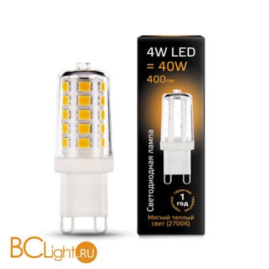 Лампа Gauss LED G9 AC185-265V 4W 400lm 2700K 107309104