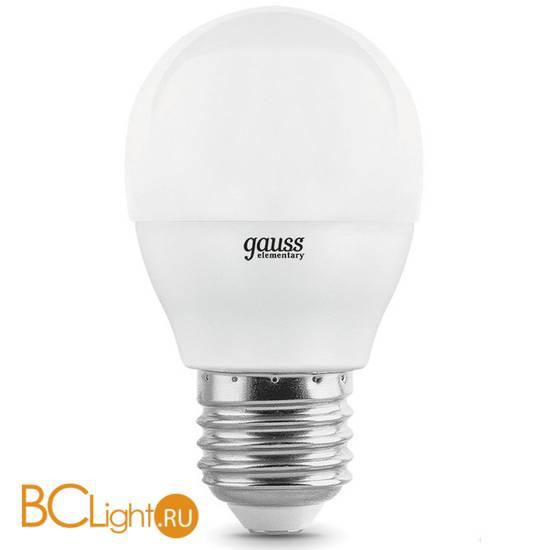 Лампа Gauss Шар 7W E27 4100K (3 лампы в упаковке) 53227T