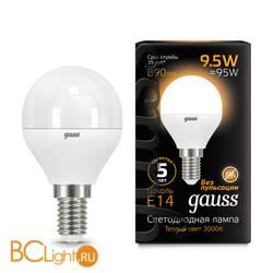 Лампа Gauss LED Шар E14 9.5W 890lm 3000K 105101110