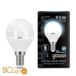 Лампа Gauss LED Шар E14 9.5W 950lm 4100K 105101210