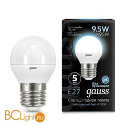 Лампа Gauss LED Шар E27 9.5W 950lm 4100K 105102210