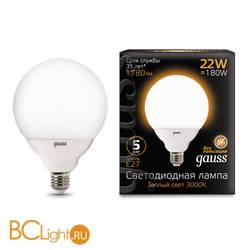 Лампа Gauss LED G125 E27 22W 1780lm 3000K 105102122