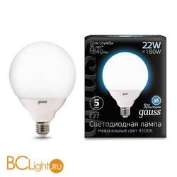 Лампа Gauss LED G125 E27 22W 1840lm 4100K 105102222