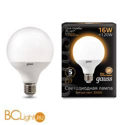 Лампа Gauss LED G95 E27 16W 1360lm 3000K 105102116
