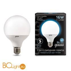 Лампа Gauss LED G95 E27 16W 1400lm 4100K 105102216