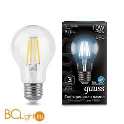 Лампа Gauss LED Filament A60 E27 10W 970lm 4100К 102802210