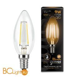 Лампа Gauss LED Filament Свеча E14 9W 680lm 2700К 103801109