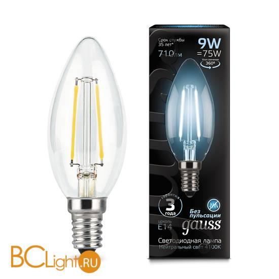 Лампа Gauss LED Filament Свеча E14 9W 710lm 4100К 103801209