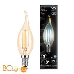 Лампа Gauss LED Filament Свеча на ветру E14 5W 420lm 4100K 104801805