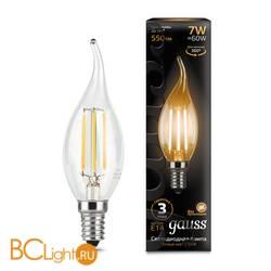 Лампа Gauss LED Filament Свеча на ветру E14 7W 550lm 2700К 104801107