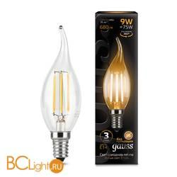 Лампа Gauss LED Filament Свеча на ветру E14 9W 680lm 2700K 104801109
