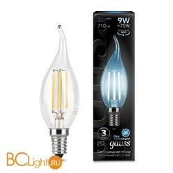 Лампа Gauss LED Filament Свеча на ветру E14 9W 710lm 4100K 104801209