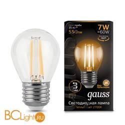 Лампа Gauss LED Filament Шар E27 7W 550lm 2700K 105802107
