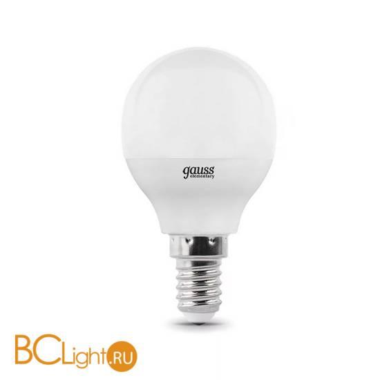 Лампа Gauss LED Elementary Шар 6W E14 420lm 3000K 53116