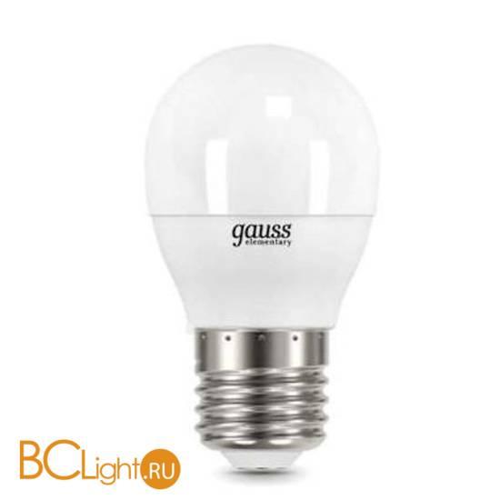 Лампа Gauss LED Elementary Шар 6W E27 470lm 6500K 53236