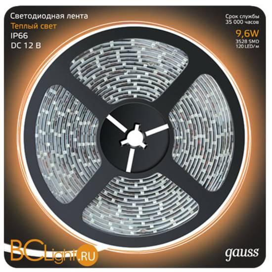 Лента LED Gauss 9.6W 12V DC 2700K 312000110