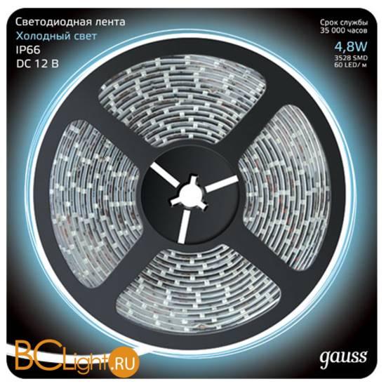 Лента LED Gauss 4.8W 12V DC 6500K IP66 311000305