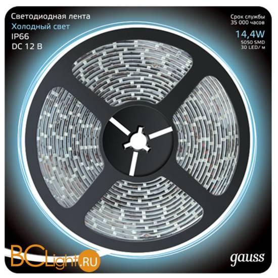 Лента LED Gauss 14.4W 12V DC 6500K IP66 311000314
