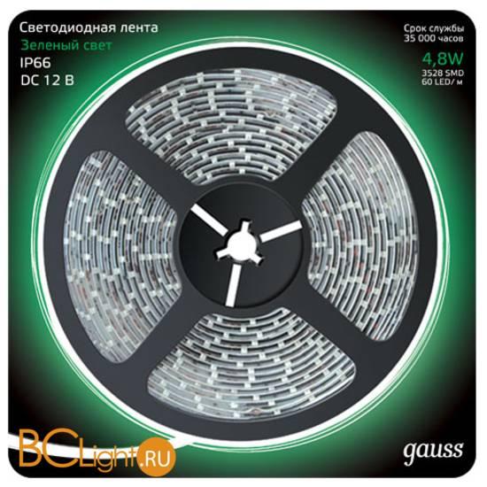 Лента LED Gauss 4.8W 12V DC зеленый 312000605