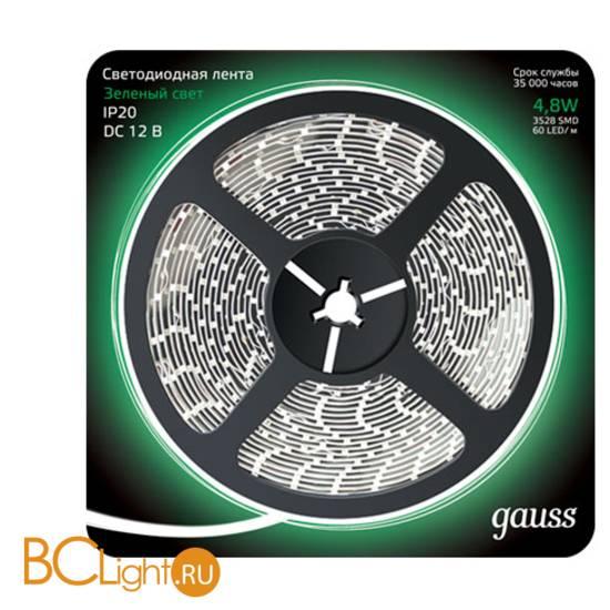Лента LED Gauss 4.8W 12V DC зеленый IP66 311000605